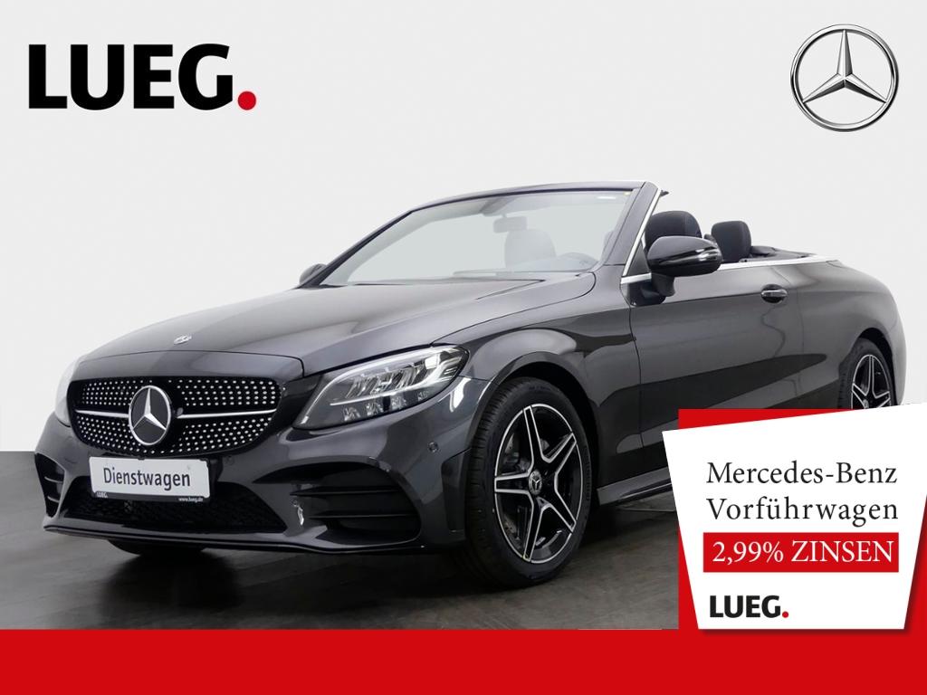 Mercedes-Benz C 180 Cabrio AMG+NIGHT+AHK+AKUSTIKVERDECK+KAMERA, Jahr 2020, Benzin