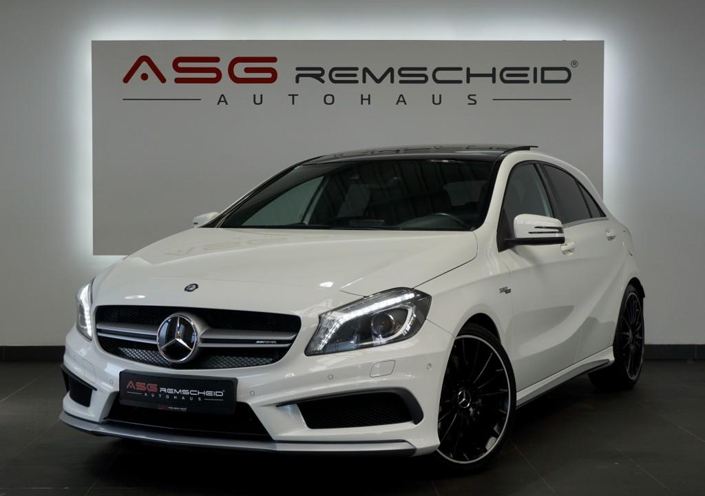 Mercedes-Benz A 45 AMG 4M *Pano *19Zoll *Sport-AbGas *Comand*, Jahr 2015, Benzin