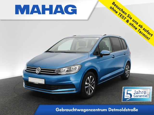 Volkswagen Touran 1.5 TSI United 7-Sitzer Navi AppConnect Sitzhz. ParkPilot LightAssist FrontAssist 16Zoll DSG, Jahr 2020, Benzin