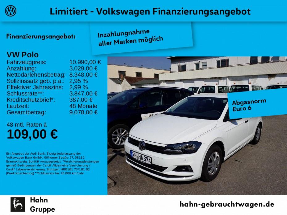 Volkswagen Polo 1.0 Cool & Sound Klima Connectivity Paket, Jahr 2018, Benzin