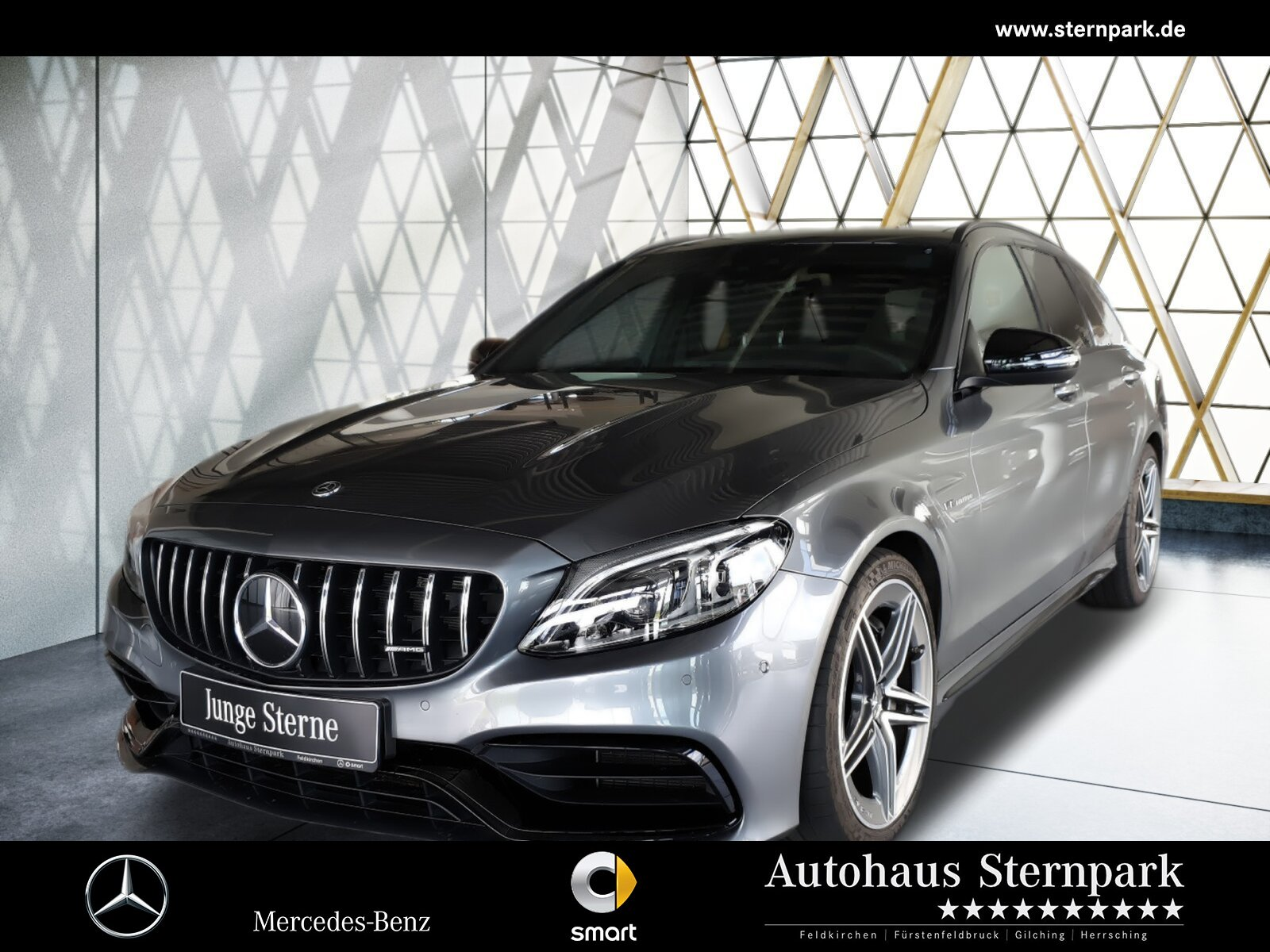 Mercedes-Benz Mercedes-AMG C 63 T Perf.AbGas.+AHK+Distronic++, Jahr 2019, Benzin