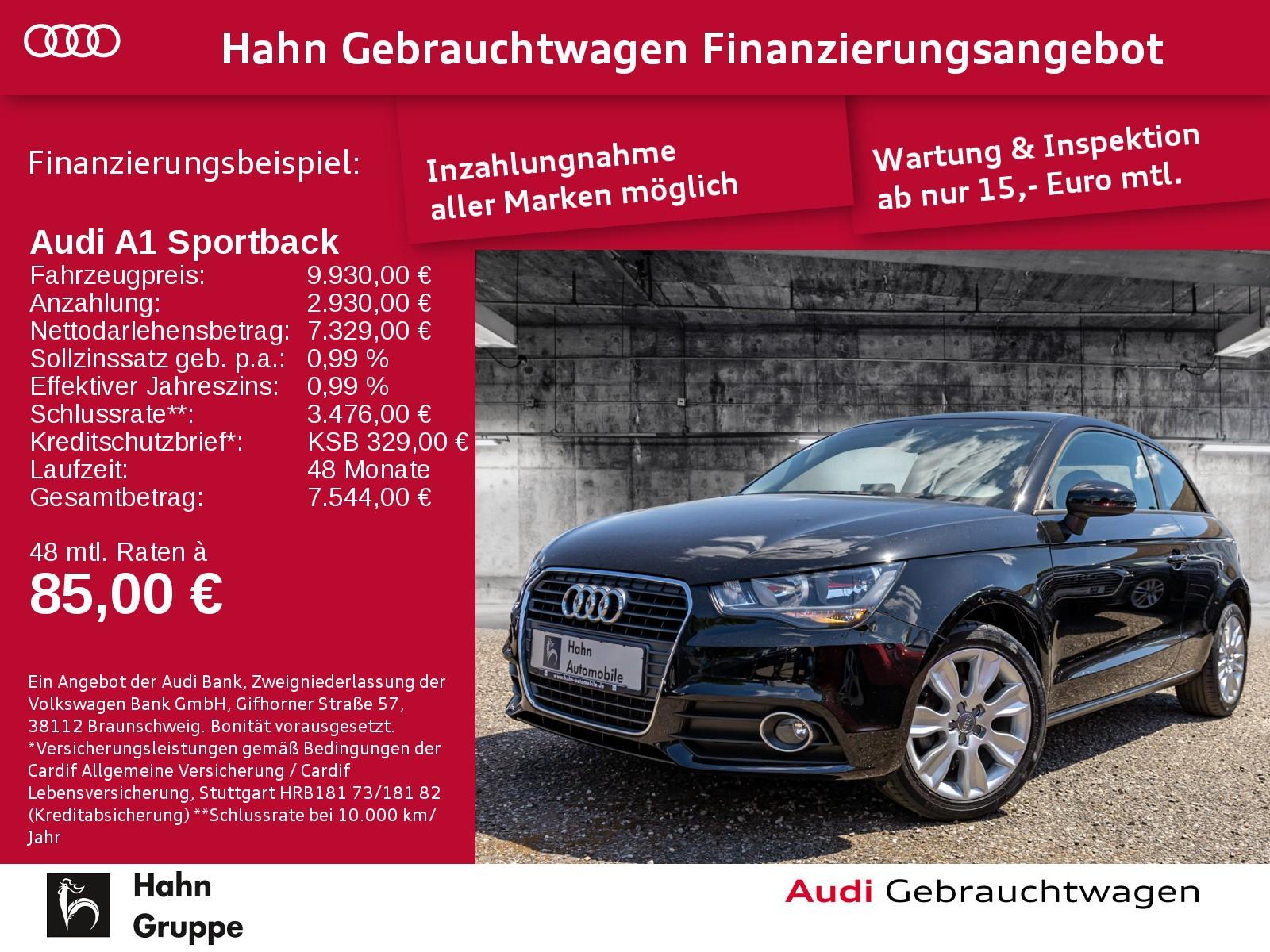 Audi A1 Sportback 1.2TFSI Ambit Klima Radio MFA, Jahr 2014, Benzin