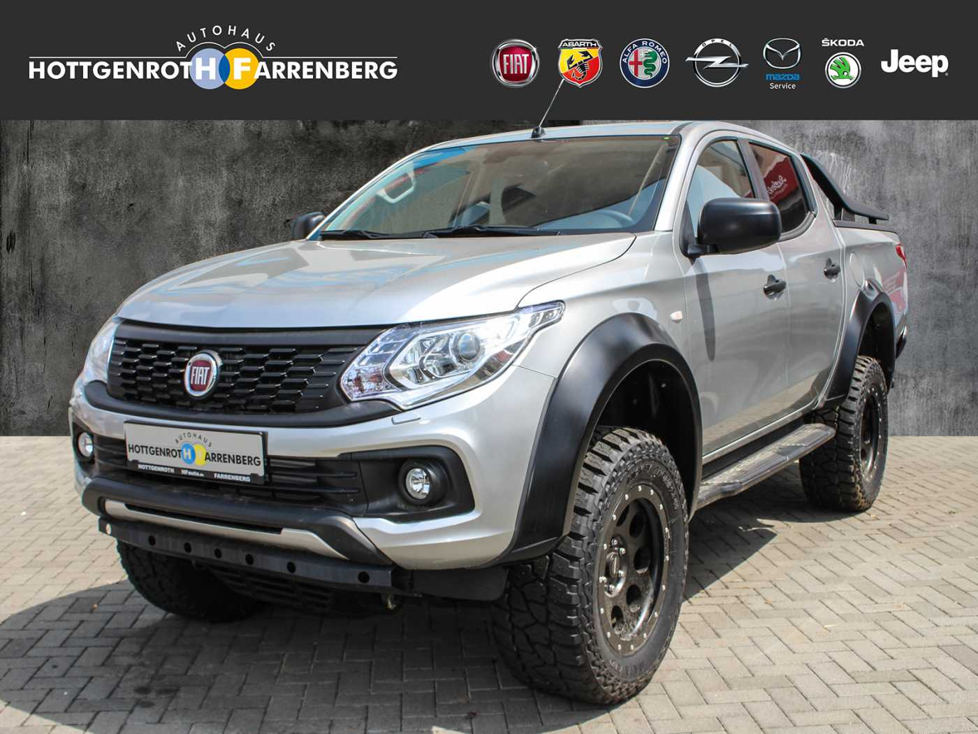 Fiat Fullback CROSS HF-UMBAU 5AT- Automatik 4WD E6 3,5 ' Fahrwerk/ Bügel / Leder/Navi/Kam./AHK, Jahr 2018, Diesel