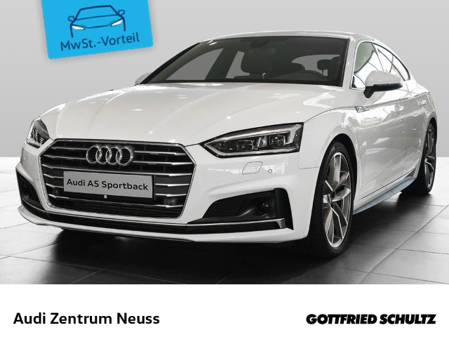 Audi A5 Sportback sport 40 TFSI 140(190) kW(PS) S S-Line ACC Alcantara NaviPlus 19Zoll MatrixLED SHZ MuFU PDC e-Sitze Klimaautom., Jahr 2019, Benzin