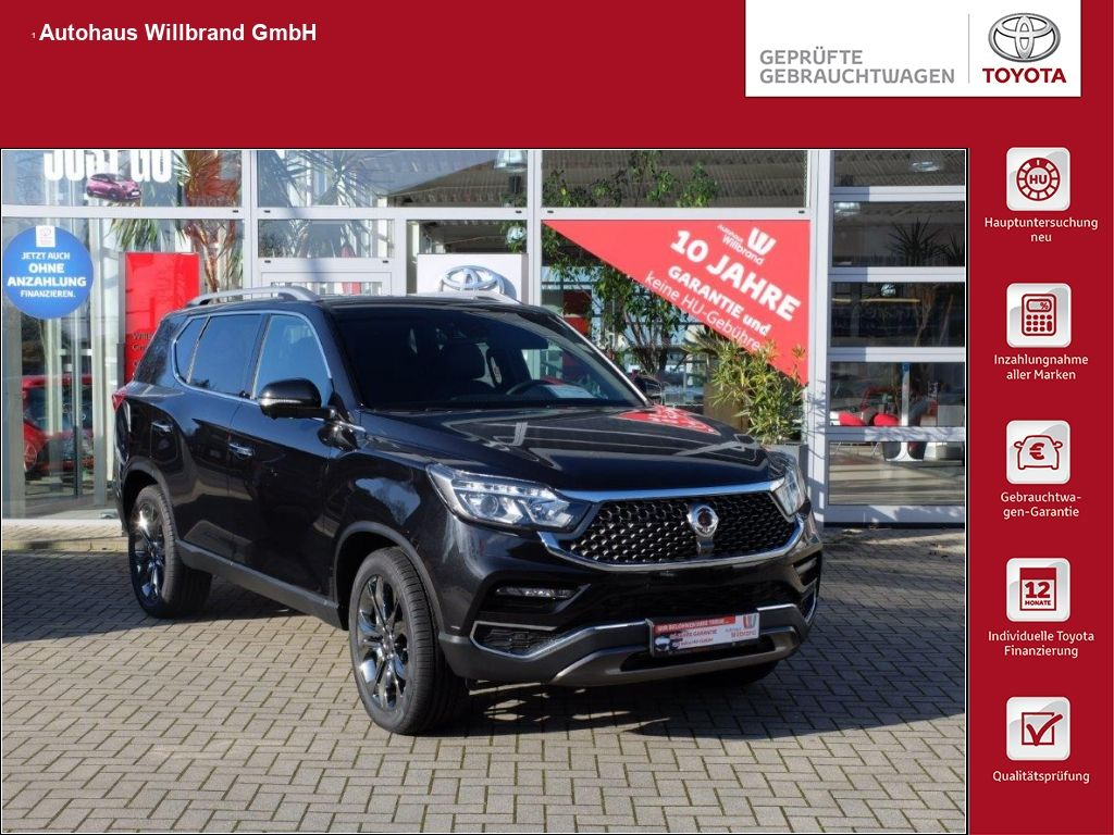 Ssangyong Rexton 2.2 e-XDi 220 4WD Aut. Sapphire, Volleder, Klimatronic, Sitzheizung vorne und hinten, ANhängerkupplung 3,5 Tonnen, Jahr 2019, Diesel