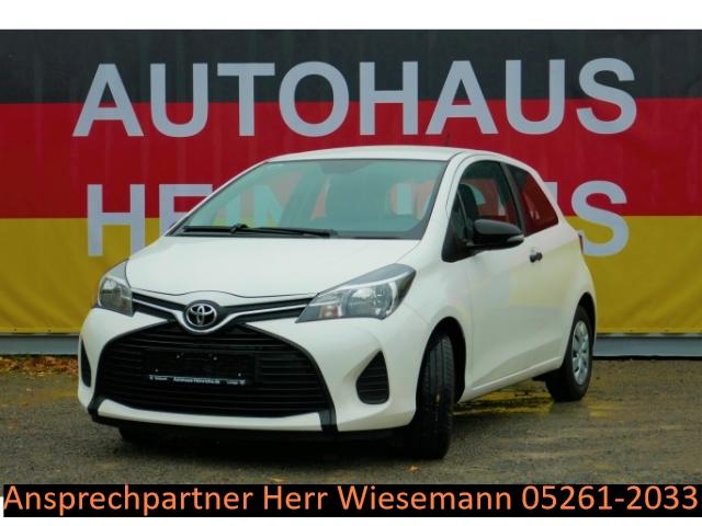 Toyota Yaris 1.0 3-Türig 99 Gramm CO2/VVTi-5G/Klimaanlage/Radio_CD/Front-,Kopf-,Knie-u.Seitenairbag, Jahr 2015, petrol