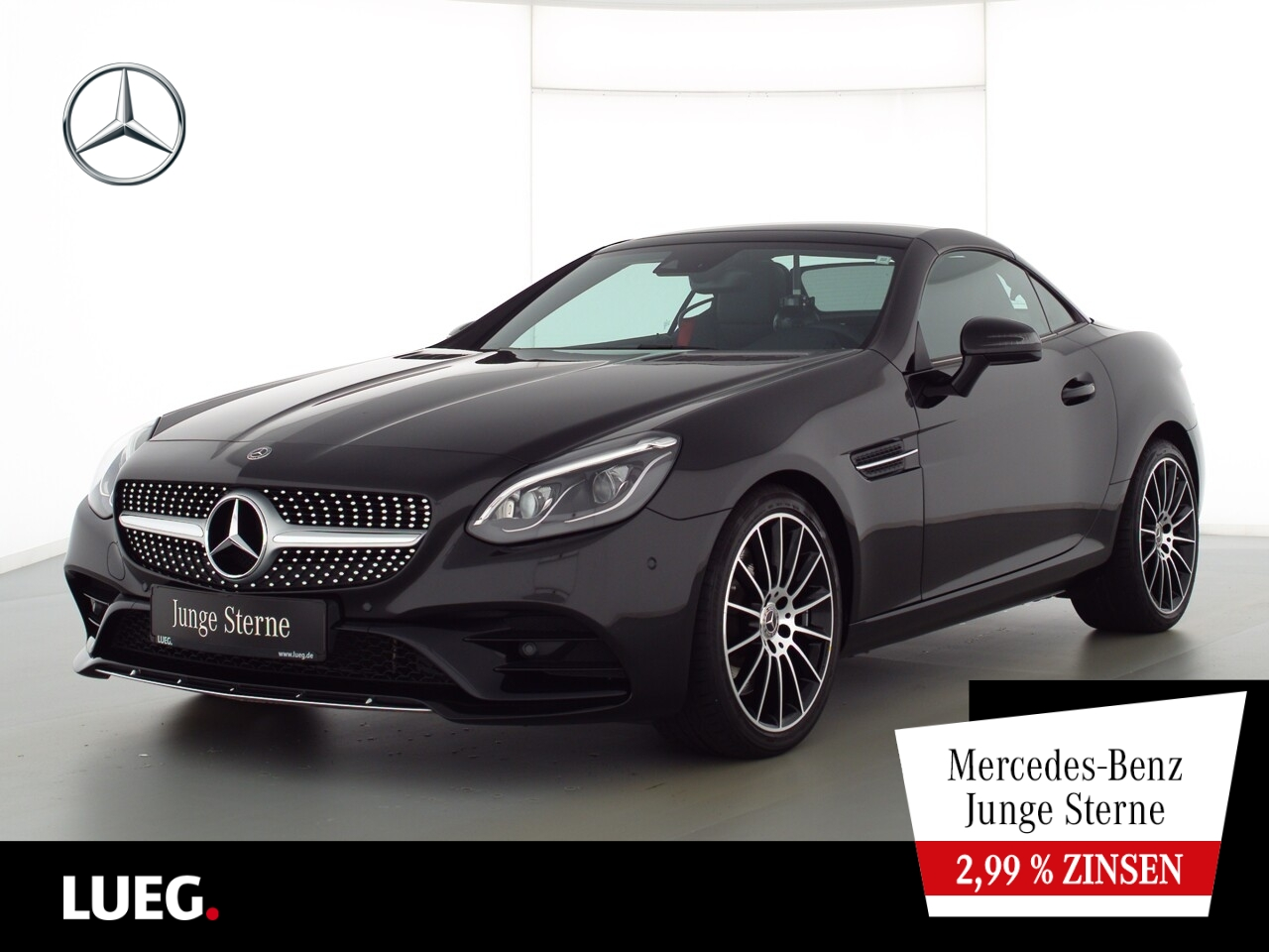 Mercedes-Benz SLC 200 AMG+COM+PanoV+LED-ILS+SpurPkt+SHZ+Kamera, Jahr 2018, Benzin