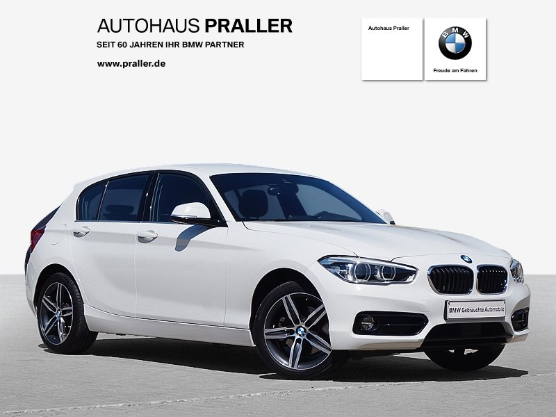 BMW 125d 5-Türer Sport Line HiFi LED Navi Bus. AHK, Jahr 2017, Diesel