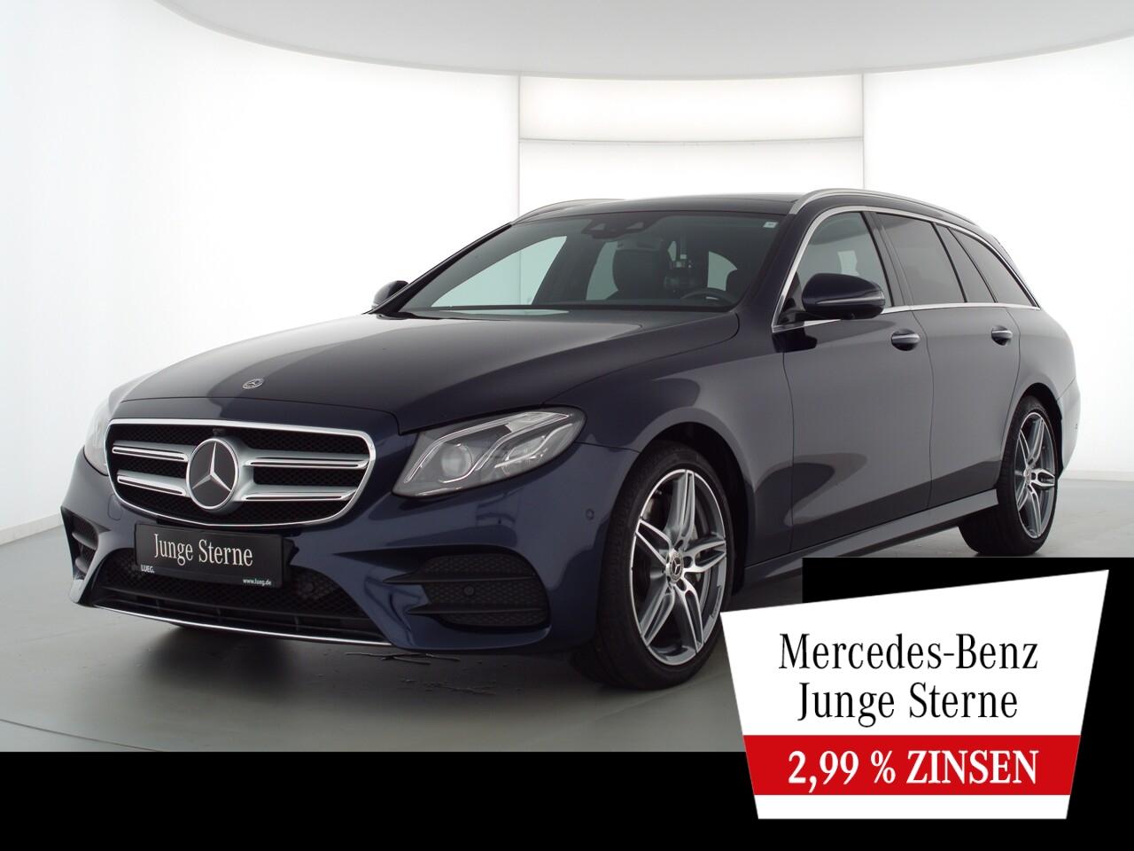 Mercedes-Benz E 350 d T 4M AMG+COM+Pano+Burm+Mbeam+AHK+HUD+360, Jahr 2018, Diesel