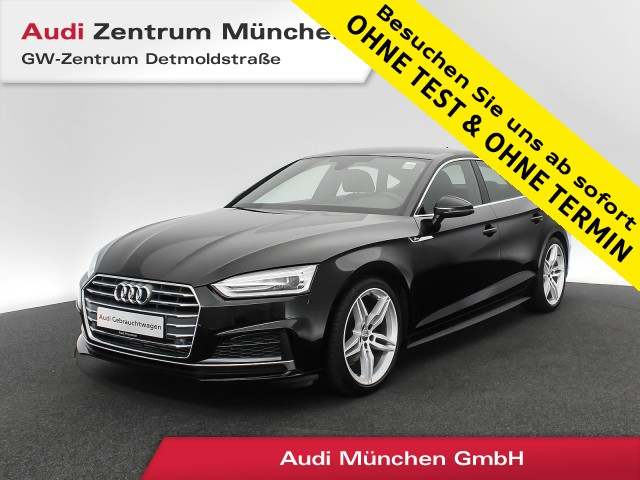"Audi A5 Sportback 40 TFSI Sport S line 19"" Navi Xenon PDC+ GRA Teilleder S tronic, Jahr 2019, petrol"