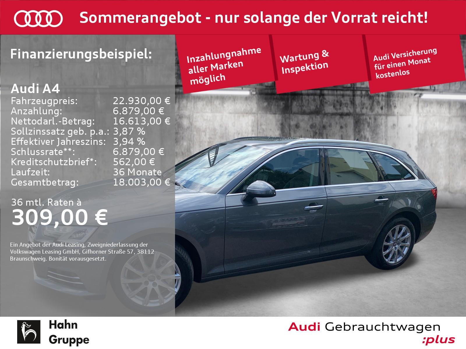 Audi A4 Avant 2.0 TDI Navi Xen Sitzh Einpark Tempo, Jahr 2016, Diesel