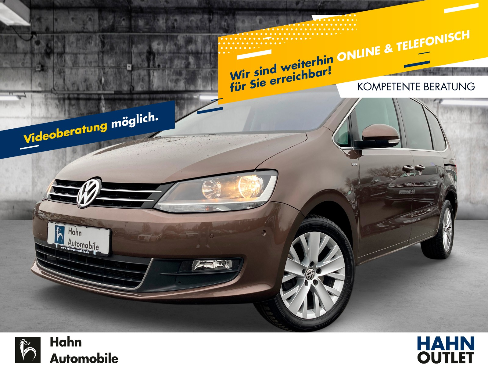 Volkswagen Sharan 2.0 TDI LIFE Navi AHK 7-Sitzer PDC LM, Jahr 2013, Diesel