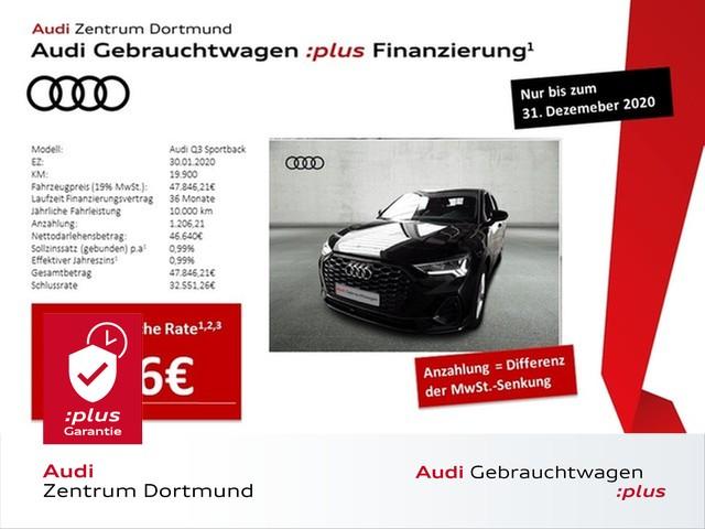 Audi Q3 Sportback 45TFSI qu. ACC/Navi+/LED/BlackOptik/eSitze, Jahr 2020, Benzin