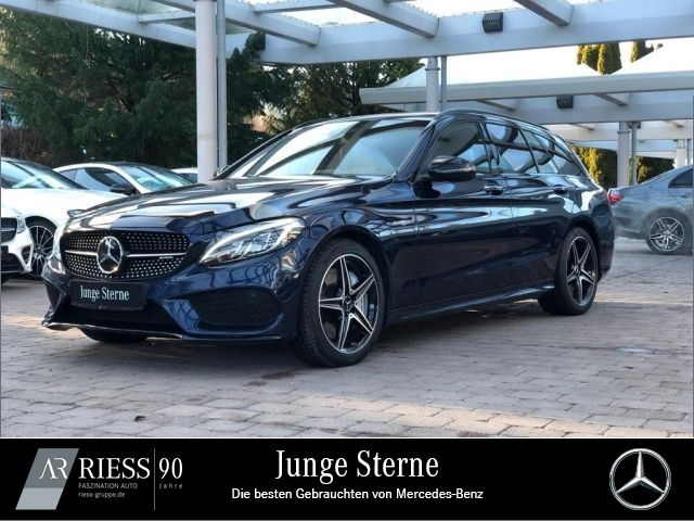 Mercedes-Benz C 43 AMG 4M T Night Com LED Burmester Distronic, Jahr 2016, petrol