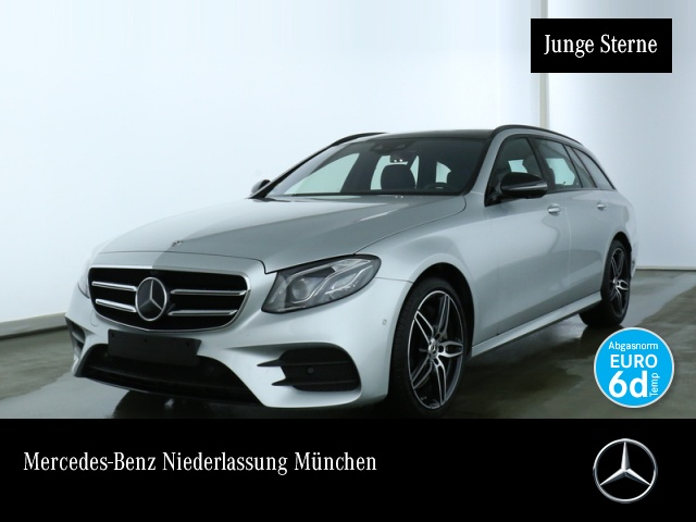 Mercedes-Benz E 450 T 4M AMG Fahrass Night Pano AHK Multibeam, Jahr 2019, petrol
