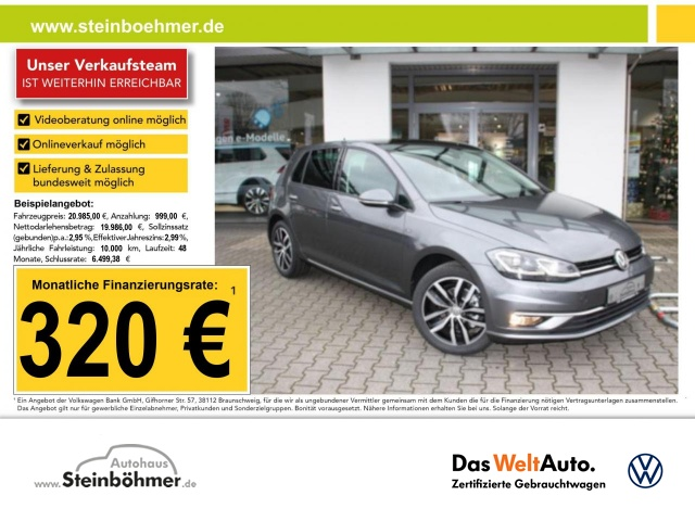 "Volkswagen Golf JOIN 2.0TDI DSG Navi LED Panorama ACC 17"", Jahr 2018, diesel"