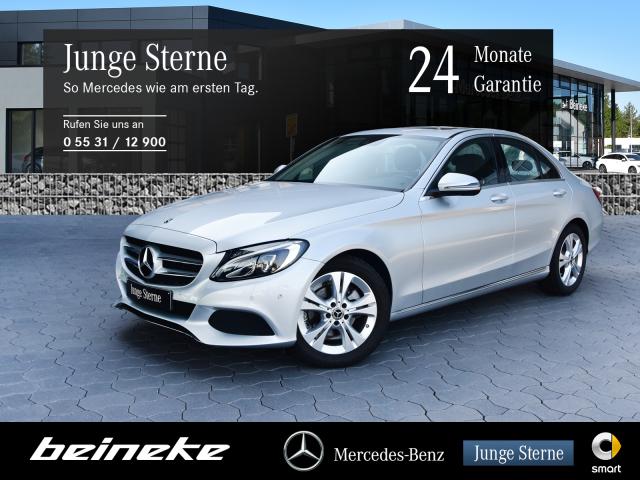 Mercedes-Benz C 180 Avantgarde LED Navi Schiebedach SH Parkas., Jahr 2017, Benzin