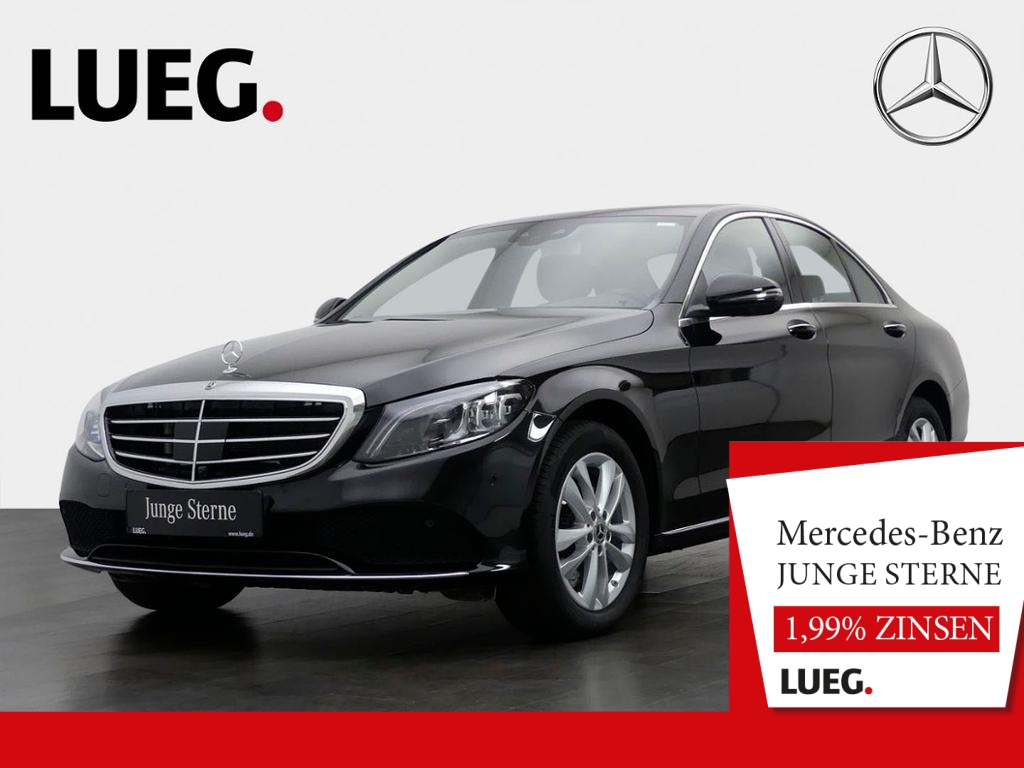 Mercedes-Benz C 180 Exclusive+COM+Mbeam+FahrA+Distr+KeyGo+360°, Jahr 2019, Benzin