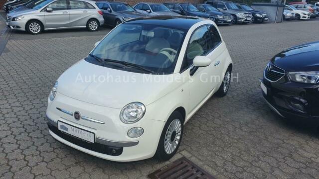Fiat 500 1.2 Lounge *Garantie*Klima*Panorama*76 mtl., Jahr 2013, petrol