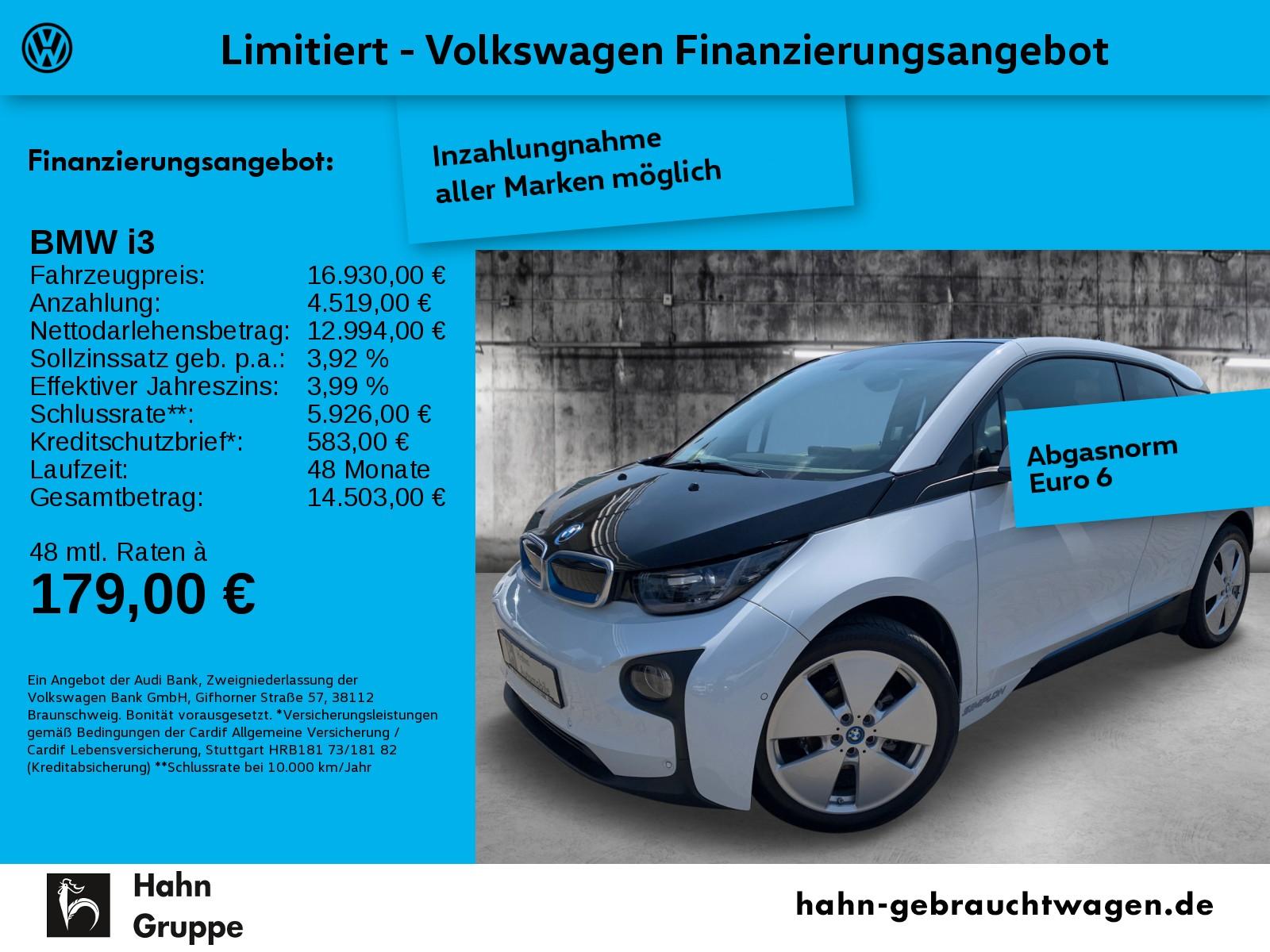BMW i3 LED Navi Sitzh Climatr Einpark, Jahr 2014, Elektro