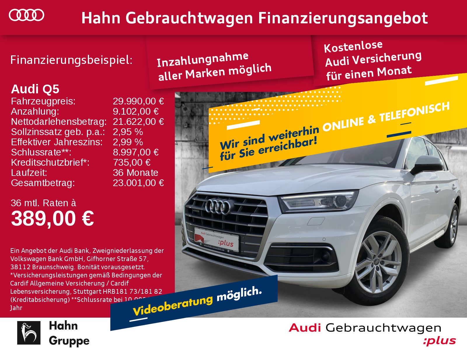 Audi Q5 2.0TDI qu. S-Trc S-line Navi ACC B&O Pano, Jahr 2017, Diesel