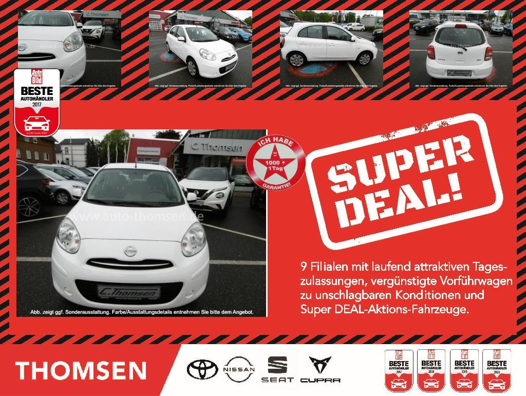 Nissan MICRA 1.2 5MT 80PS ACENTA Bremsass PDC Klima, Jahr 2012, Benzin