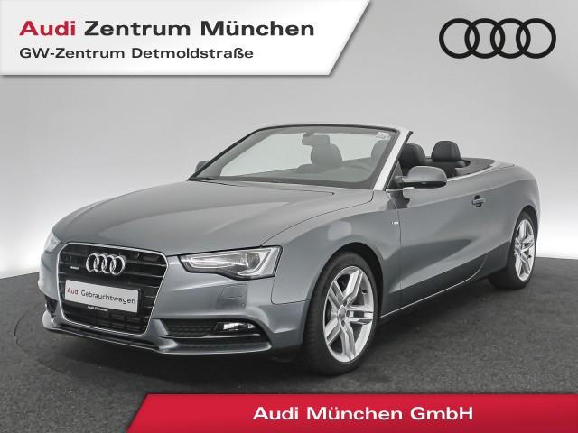 Audi A5 Cabriolet 2.0 TFSI qu. S line Assistenz AHK Leder Navi Xenon el.Sitze R-Kamera S tronic, Jahr 2017, Benzin