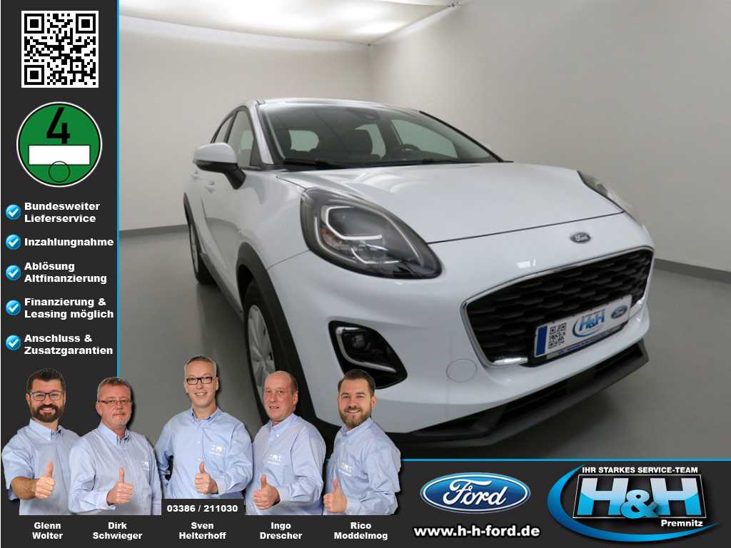 Ford Puma 1.0 EcoB Hybrid Trend (LED+DAB), Jahr 2020, Hybrid