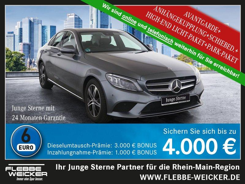 Mercedes-Benz C 200+AVANTGARDE+MULTIBEAM LED+GSHD+AHK+R.-KAM.+, Jahr 2020, Benzin
