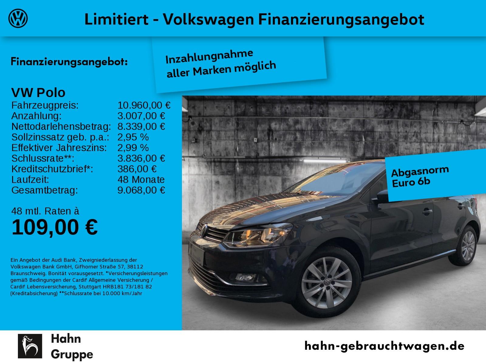 Volkswagen Polo Comfortline 1,0 4-Tür Climatronic Parkpilot, Jahr 2017, Benzin