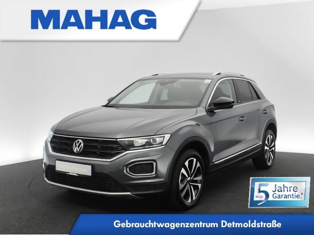 Volkswagen T-ROC 1.5 TSI UNITED Navi LED DigitalCockpitPro Kamera eKlappe Sitzhz. ParkPilot FrontAssist 17Zoll 6-Gang, Jahr 2021, Benzin