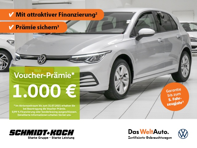 Volkswagen Golf VIII 1.5 TSI Life NAVI, ACC, LED ParkAssist, Jahr 2020, Benzin