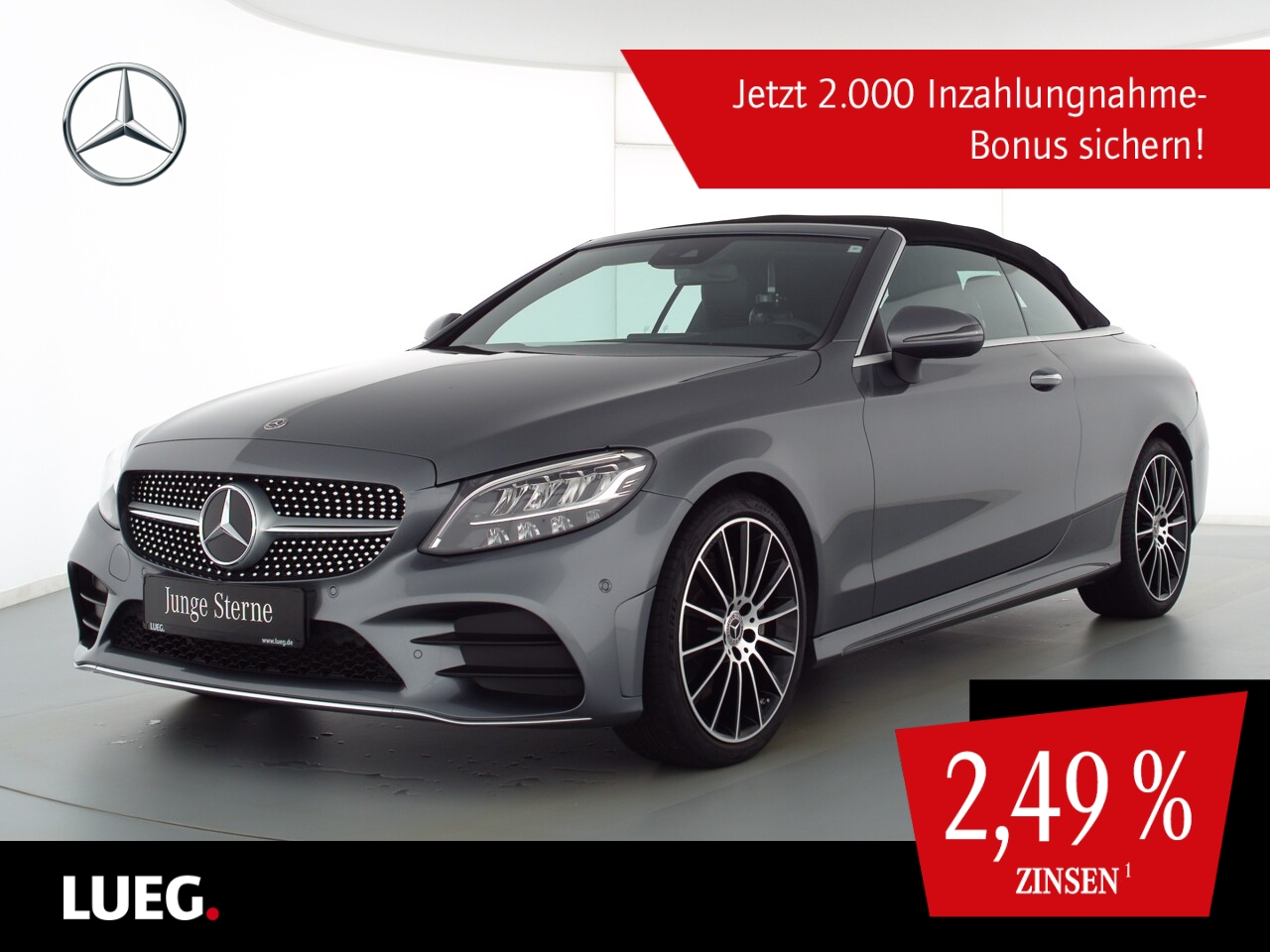 Mercedes-Benz C 220 d Cabrio AMG+Burm+LED-HP+19+CabK+Distr+RFK, Jahr 2020, Diesel