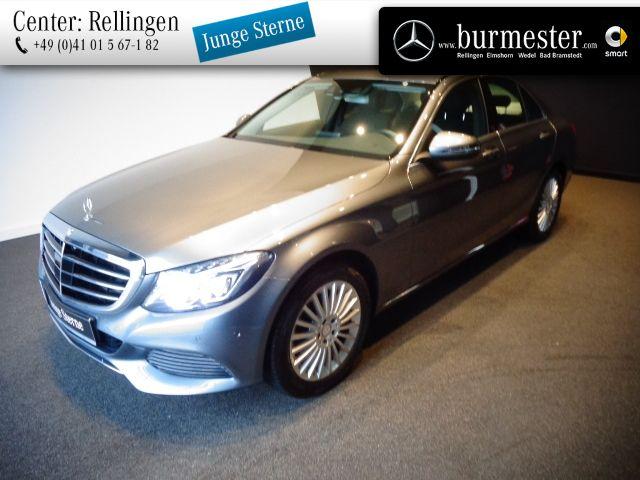 Mercedes-Benz C 200 Exclusive+Burmester+Distronic+LED+Memory, Jahr 2016, Benzin