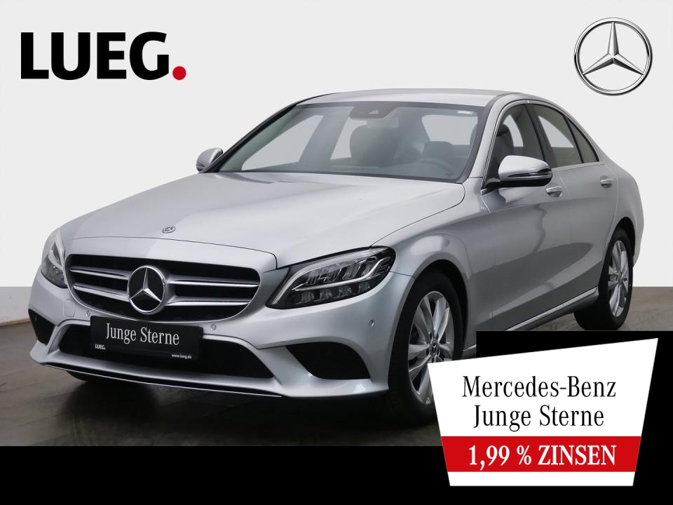 Mercedes-Benz C 180 Avantgarde+Navi+LED-HP+SpurPk+CarPl+Kamera, Jahr 2019, Benzin