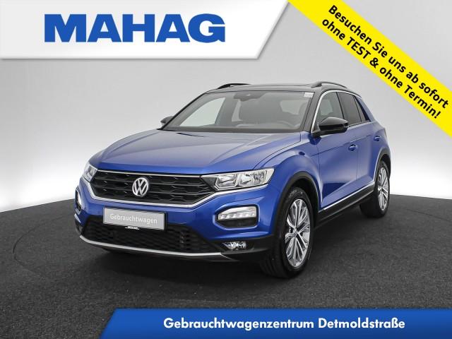 Volkswagen T-ROC SPORT 2.0 TSI 4mot. Navi AHK Panorama eKlappe Sitzhz. ParkPilot LaneAssist FrontAssist 18Zoll DSG, Jahr 2018, Benzin