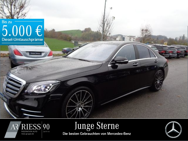 Mercedes-Benz S 560 4M AMG+Multibeam+Sitzklima+Kamera+PTS, Jahr 2018, petrol