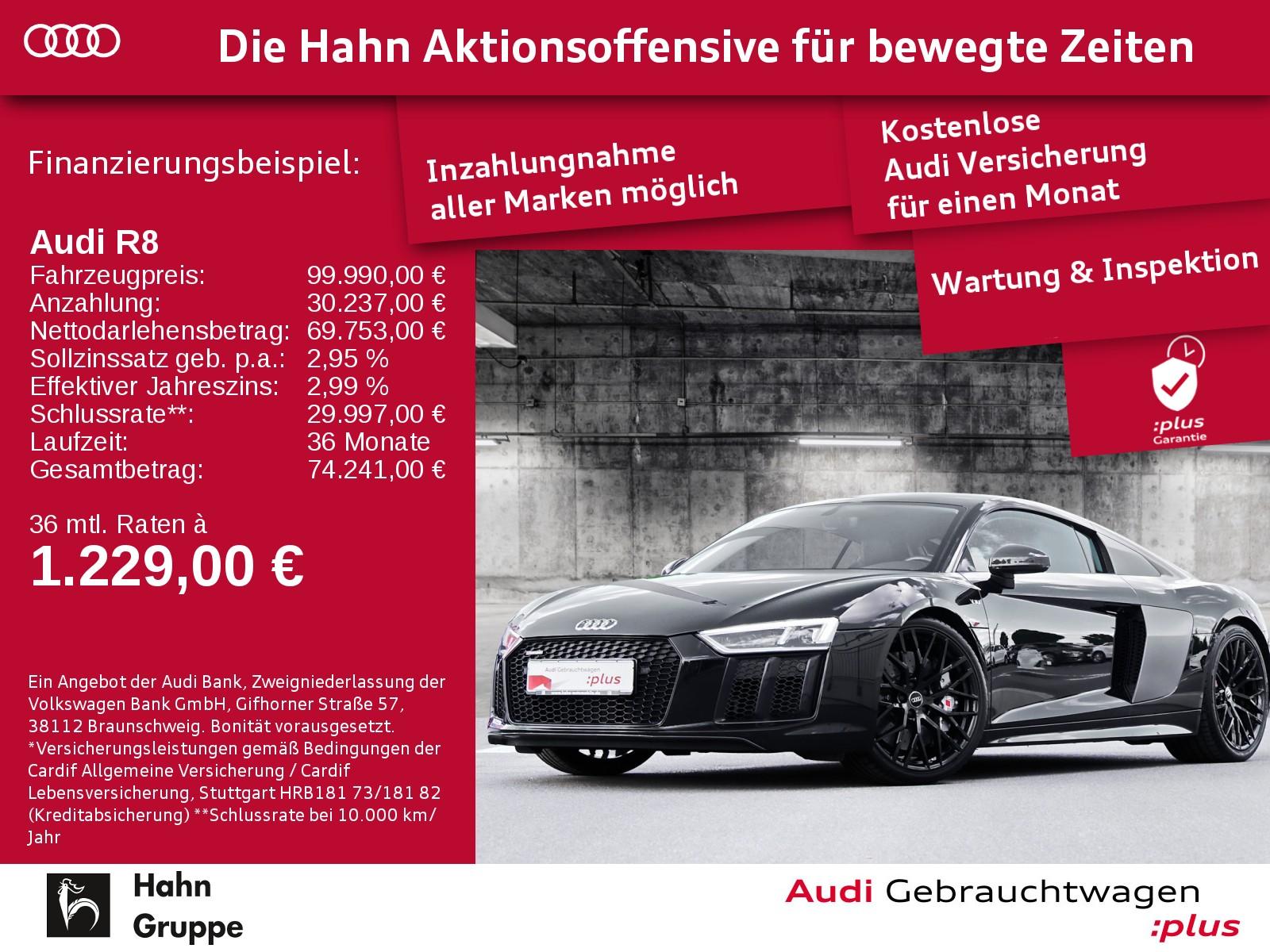 Audi R8 5.2FSI plus q.S-trc LED Navi B&O SportabGas, Jahr 2017, Benzin