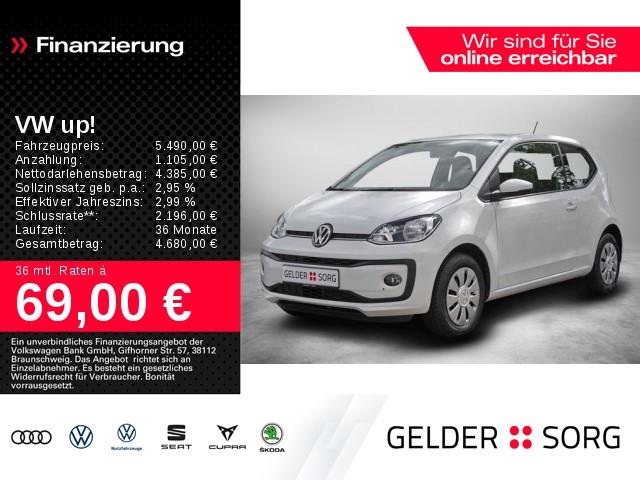 Volkswagen up! 1.0 move up! *1.Hd.*Klima*SHZ*el.Asp.*Nebel*, Jahr 2017, Benzin