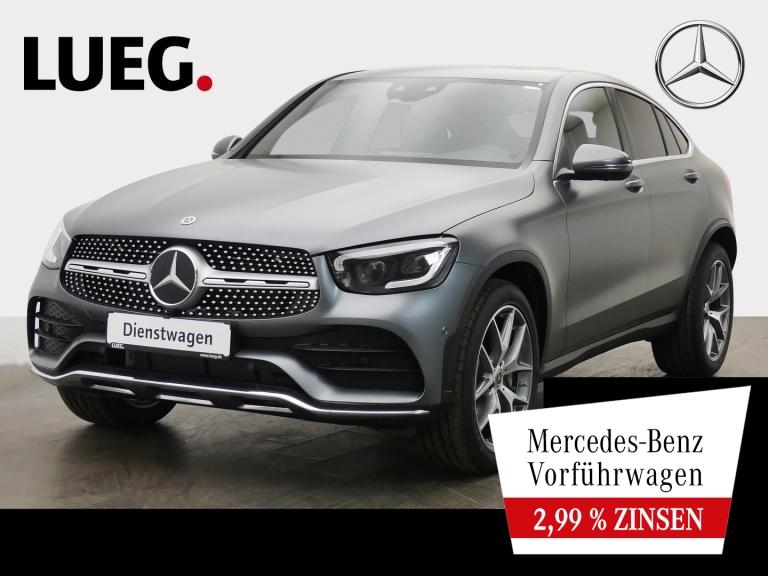Mercedes-Benz GLC 400 d 4M Coupé grau magno AMG+20''+DIST.+SHD, Jahr 2021, Diesel