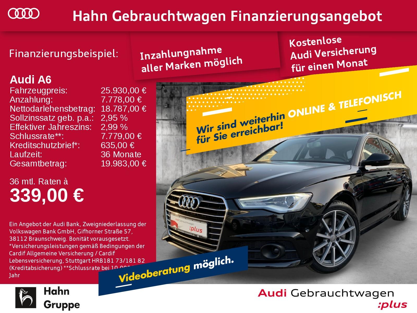 Audi A6 Avant 3.0TDI qua. S-trc Navi Xen AHK CAM ACC, Jahr 2017, Diesel