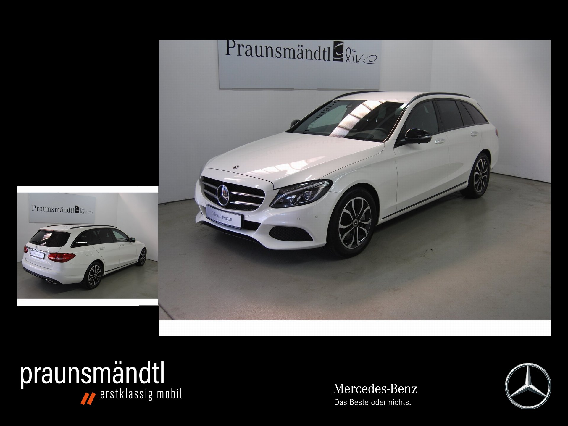 Mercedes-Benz C 300 T Avantgarde LED/360°/Distr/Standhz/Comand, Jahr 2017, Benzin