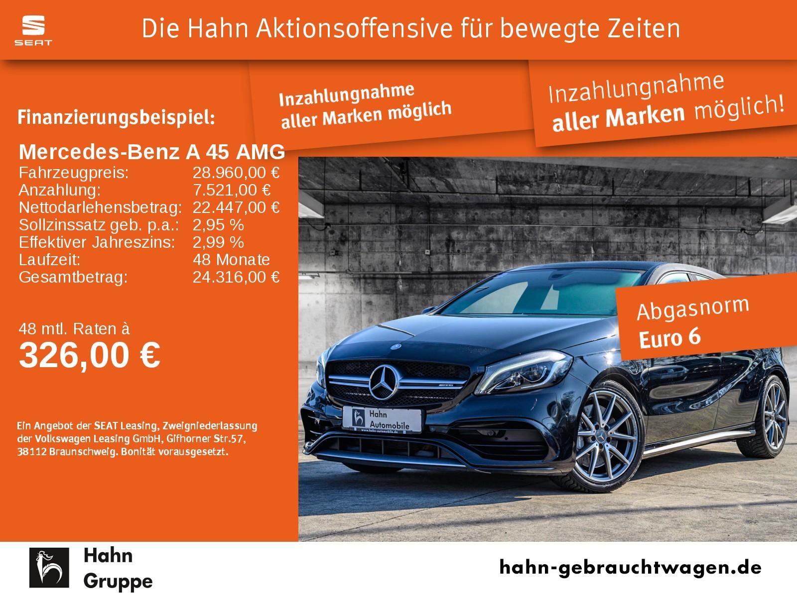 Mercedes-Benz A 45 AMG 4-Matic LED Navi PDC Climatr., Jahr 2016, Benzin
