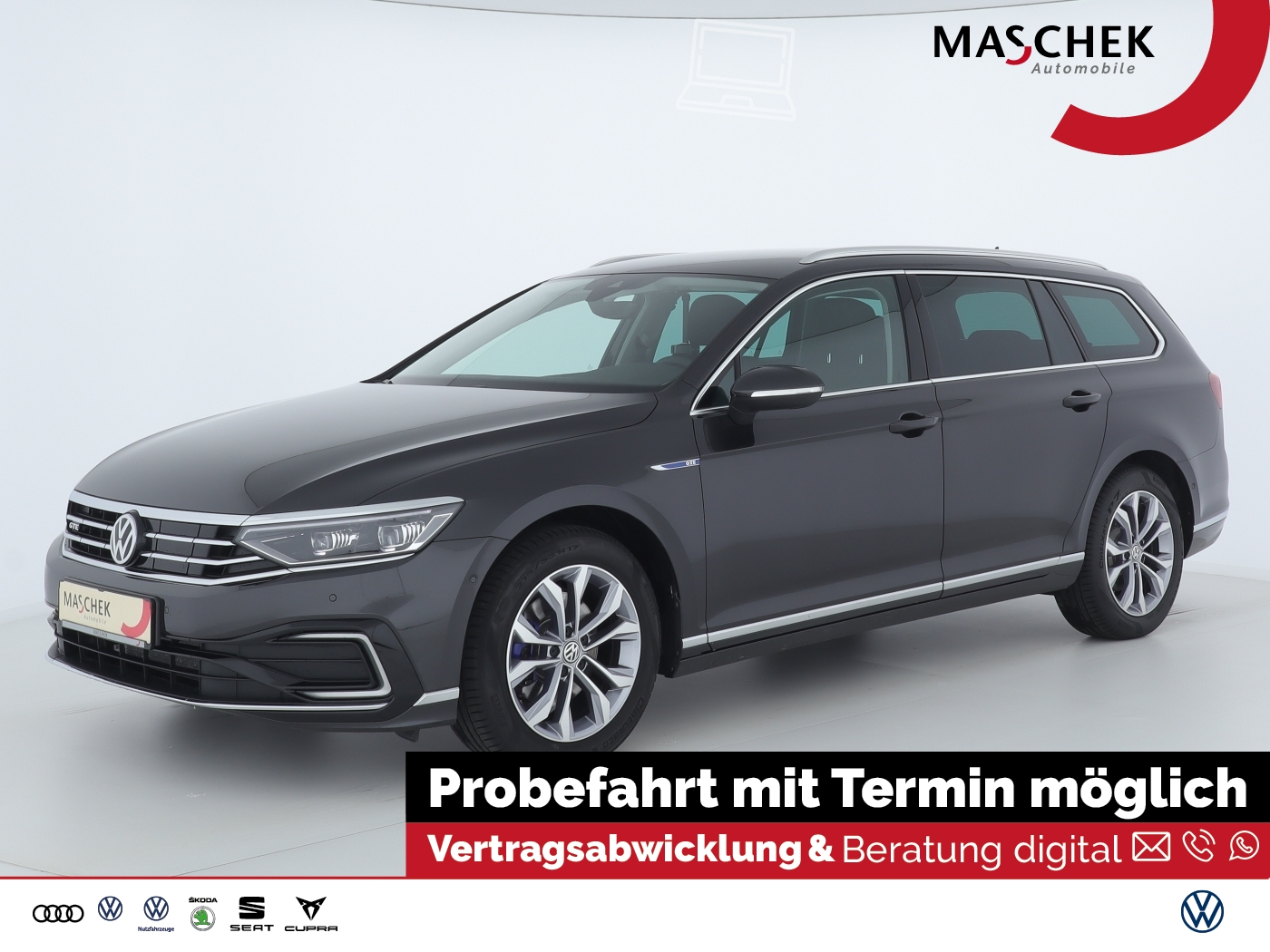 Volkswagen Passat GTE Variant IQ-Light AHK Navi Business e-, Jahr 2019, Hybrid