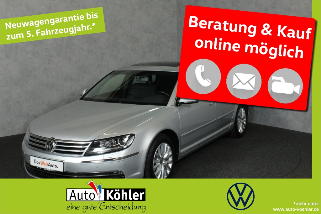 Volkswagen Phaeton TDi Dynaudio / Glasschiebedach Luftfed., Jahr 2015, Diesel