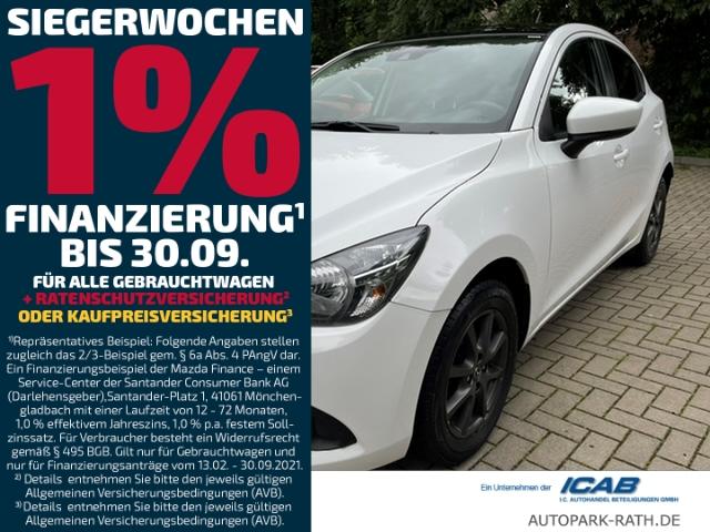 Mazda 2 SKYACTIV-G 75PS Schalter Signature+/KLIMA/Allwetterreifen, Jahr 2018, Benzin