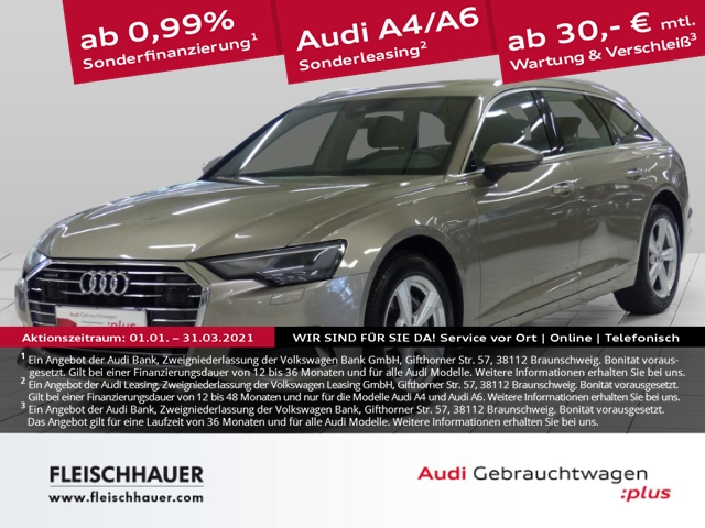 Audi A6 Avant 45 TDI qu. design Navi+LED+19''+Leder+DAB+PDC+Kamera+WR, Jahr 2019, Diesel