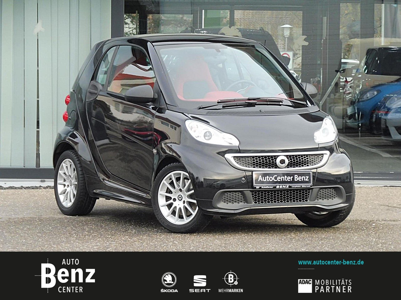 smart fortwo coupe Micro Hybrid Drive PANO*KLIMA*USB!!, Jahr 2013, petrol
