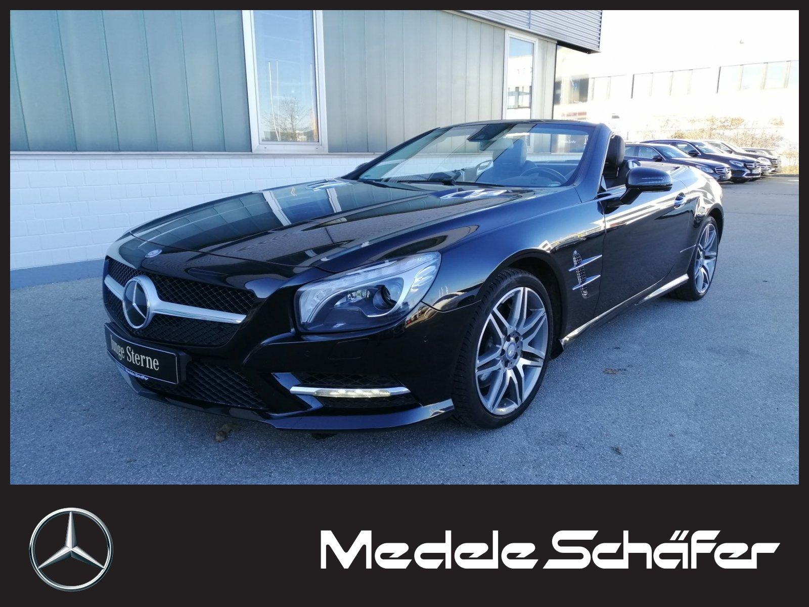 Mercedes-Benz SL 500 AMG Distr Sitzklima MagicSky ABC Bang ILS, Jahr 2014, petrol