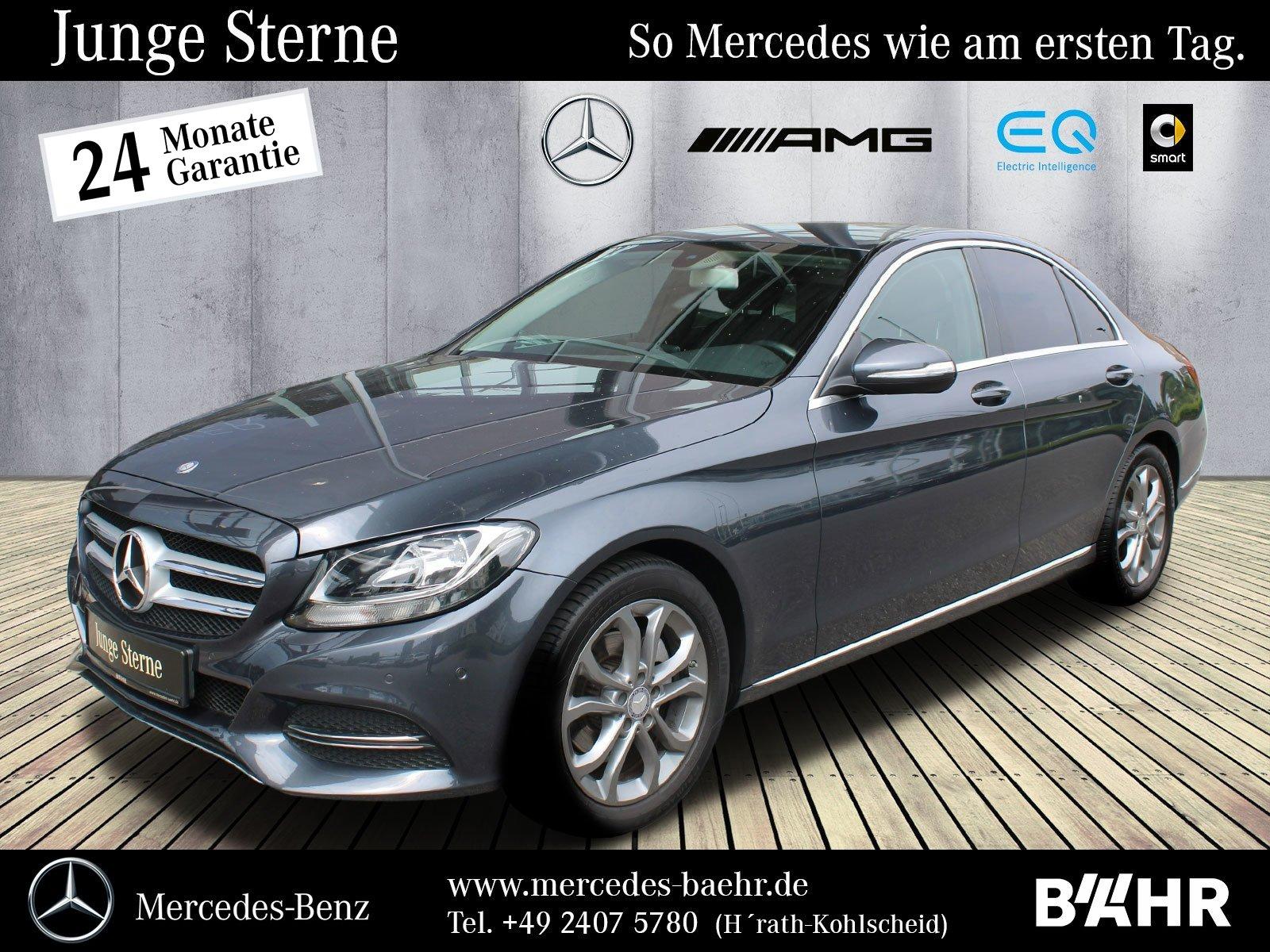 """Mercedes-Benz C 200 BT Avantgarde/Navi-Vorr./Parktronic/LMR17"""", Jahr 2015, diesel"""